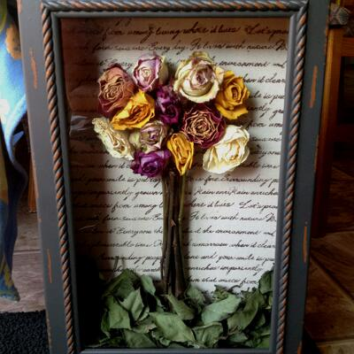 Funeral Flowers - Picture Frame Keepsake 2