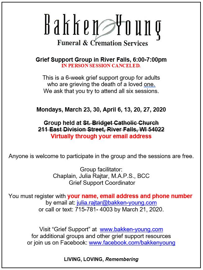 Spring Virtual Grief Group